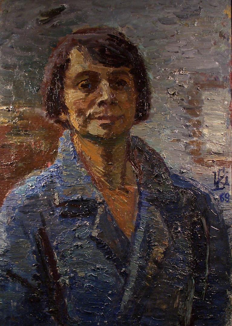 """Ирина Бржеская """"Автопортрет"""", 1968 Холст, масло. 70 х 49 см"""