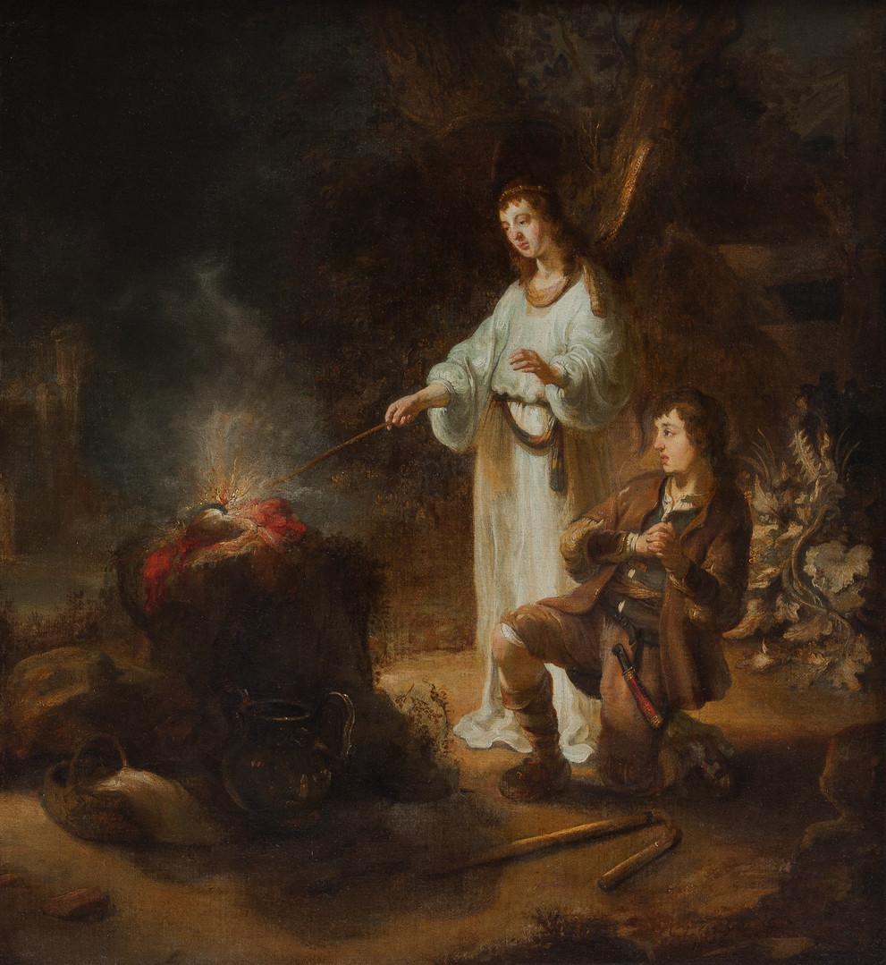 """Гербрандт ван дер Экхаут """"Явление Ангела Гидеону"""", 1642 Холст, масло. 86 х 77 см"""