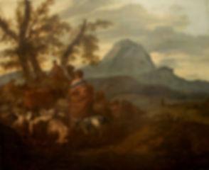 """Старинная картина голландского художника XVII века Симоа ван дер Дуса """"Исход израильтян из Египта"""""""