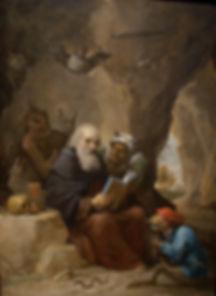 Картины старых матеров. Давид Тенирс Младший. Искушение св. Антония