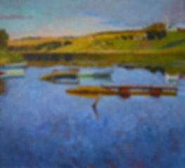 Картина маслом современного русского художника Анастасии Нестеровой, живопись, пейзаж