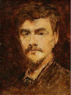 Французский художник-ориенталист Морис Бомпар. Автопортрет. До 1900 года.