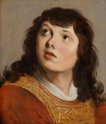 Старинная картина маслом известного голландского художника 17 века Баккера, портрет Святого Стефана, голландская живопись 17 века, антикварат