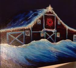 Barb's Barn In Winter