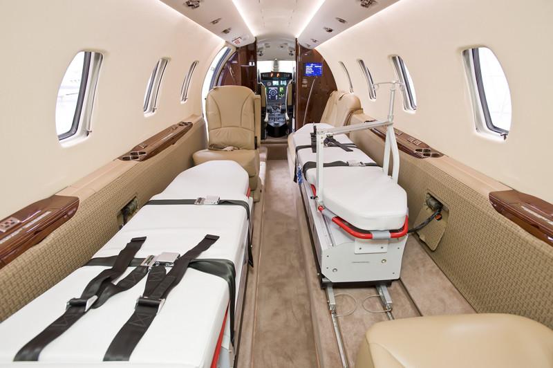 Air Ambulance interior stretcher emergency private charter