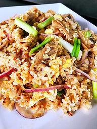 Bergens BBQ pull pork fried rice