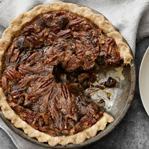 Mapple chocolate-chunk pecan pie