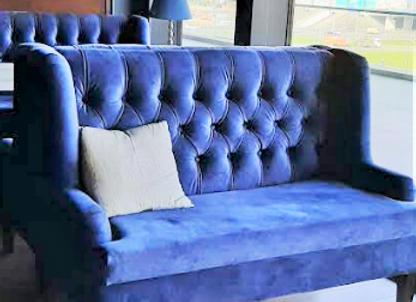 Диван Глазго (синий,бирюзовый) 140 см.