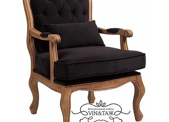 Кресло с подушкой Белла,чёрный вельвет