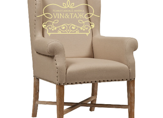 Кресло French Wing Chair Кремовое