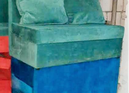 Диван трансформер (бирюзовый,синий) 140х75