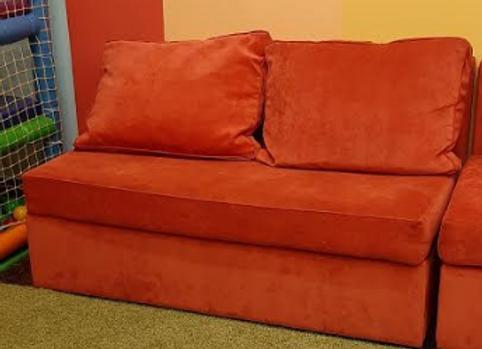 Диван трансформер (оранжевый) 140х75