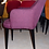 """Thumbnail: Кресло """"Мартин"""", темно-фиолетовое ,черные ножки"""