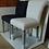 Thumbnail: Мягкий белый стул на винтажных ножках