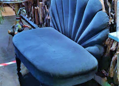 Софа ракушка-(тёмно-бирюзовая)