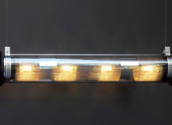 Подвесной светильник в трубке 100-500 (70Х13.5см..) ФРАНЦИЯ