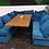 Thumbnail: Диван трансформер (бирюзовый,синий) 140х75
