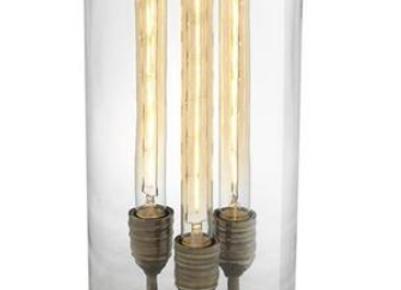 Настольная лампа колба на 3 лампы Ньюбери