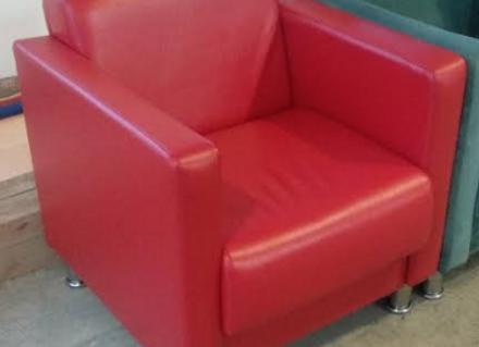 Кресло Алекто 2 красная кожа