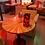 Thumbnail: Дизайнерский стол на кованном подстолье 80см.