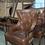 Thumbnail: Винтажное кресло с открытой спинкой (нат.кожа)