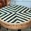 Thumbnail: Столешница деревянная мозаика d-80 см.(черная полоска)