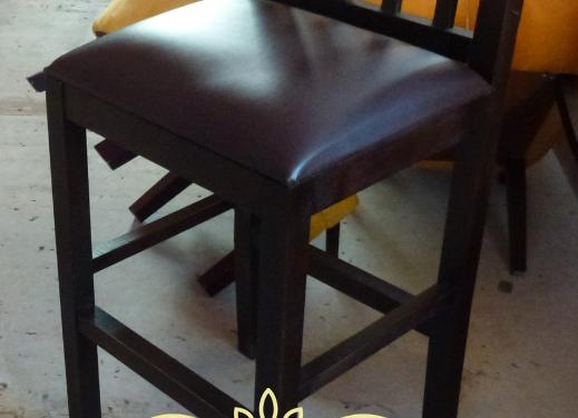 Барный стул из массива с мягким сиденьем (Выс.пос.-80см)