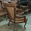Thumbnail: Каминное кресло с высокой спинкой (нат.кожа)