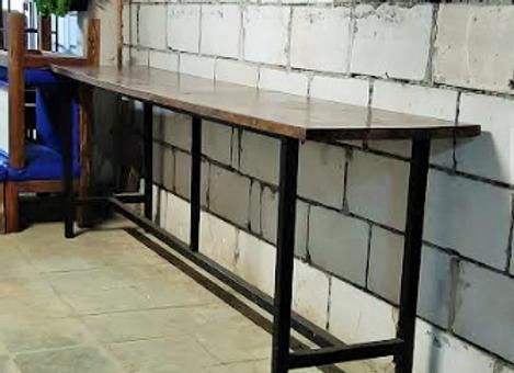 Барный стол (массив,металл) 350 см.