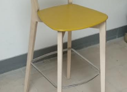 Барный стул Connubia Jelly-горчичный (Италия)