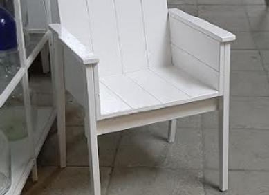 Кресло массив - белое