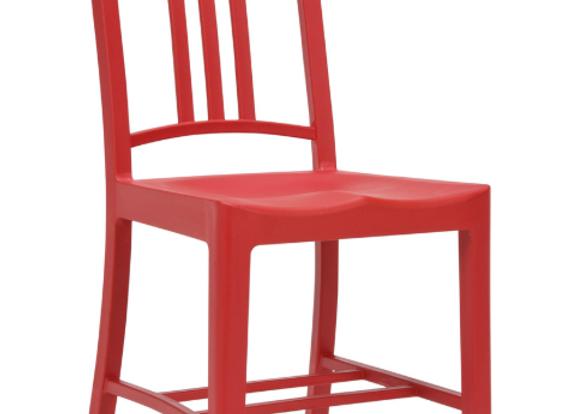 Стул МАНОН (пластик,металл)-желтый,белый,зелёный,красный цвет.