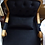 Thumbnail: Кресло с подушкой Белла,чёрный вельвет