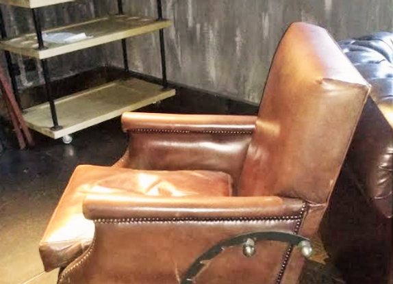 """Кресло """"Сигарное"""" (откидное) нат.кожа."""