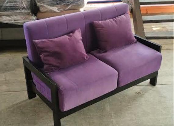 Диван Фиолетовый (БУК) с подушками 130см.