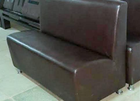 Диван модульный тёмно-коричневый 120 см.