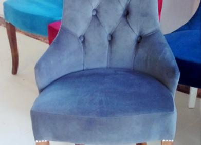 Полукресло бортовое (серо-голубое)