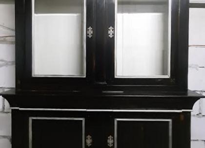 Шкаф-витрина с выдвижными ящиками  (массив) 190 см.