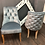 Thumbnail: Дизайнерский стул Капитоне (голубое серебро)