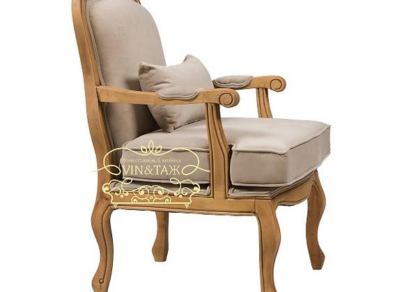 Кресло с подушкой Белла, Бежевый вельвет