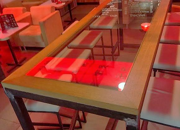 """Большой барный стол """"Индустриал""""-260см."""