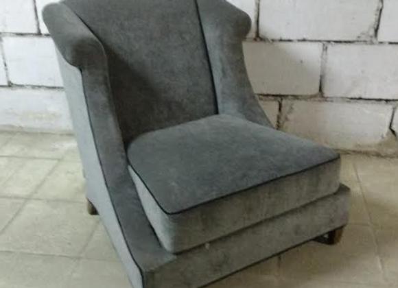 Кресло ГЛЭМ (серо-голубое)