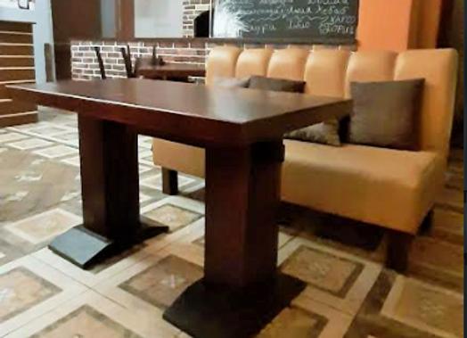 Стол массив-коньяк (130х70 см.)