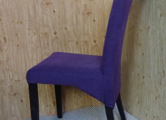 Мягкий стул на Буковых ножках -фиолетовый.