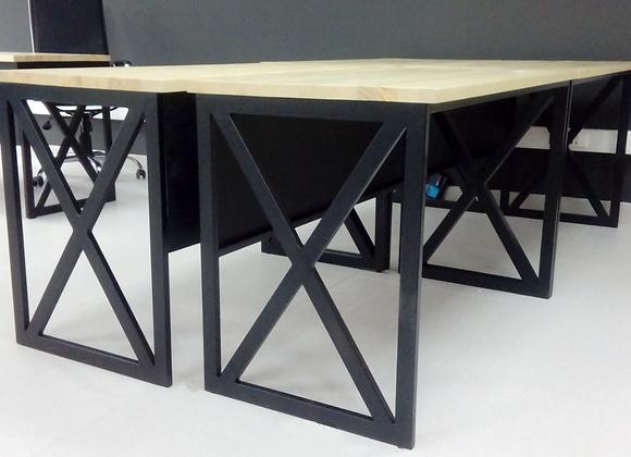 Рабочий стол «Индустриал» черного цвета