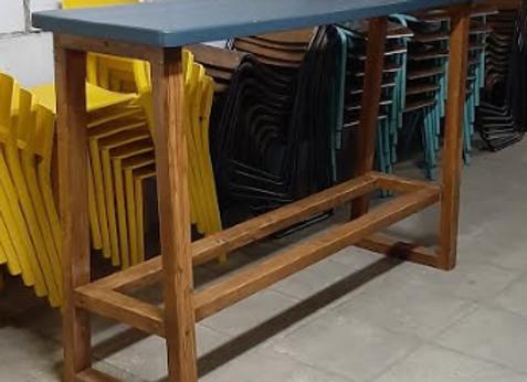 Барный стол массив 180х49 выс.113 см.