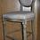 """Thumbnail: """" К.М.ВИНТАЖ"""". Барный стул Vintage French Round  кремовый лен (мягкая спинка)"""