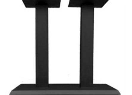 Подстолье металлическое Квадро Трапезе Дуо-низкое 62см.