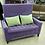 Thumbnail: Диван высокий Велюр с подушками-фиолетовый 130см.