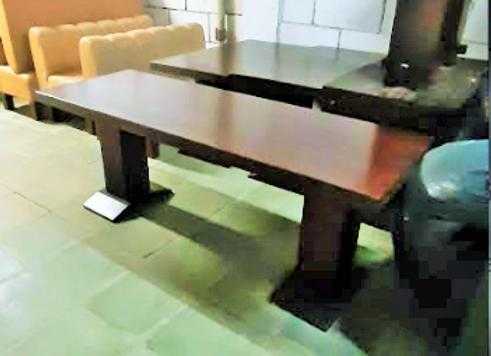 Стол массив-коньяк (197х70 см.)